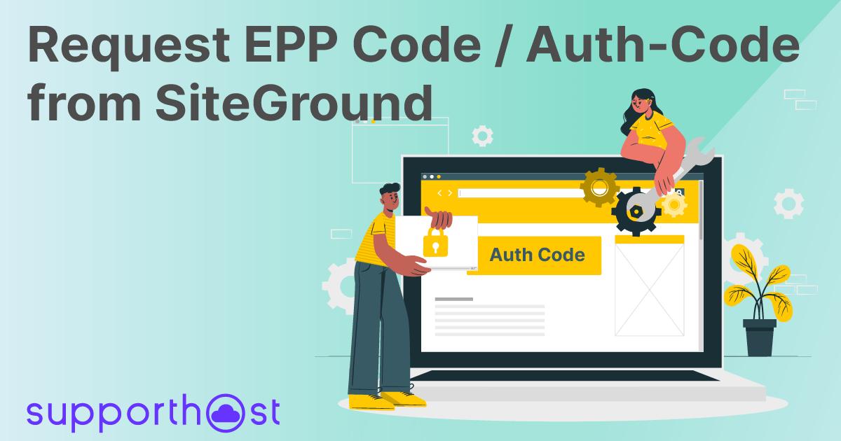 Request Auth-Code / Epp SiteGround