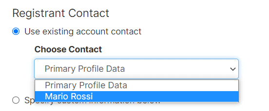 Change Domain Owner Use Existing Account Contact