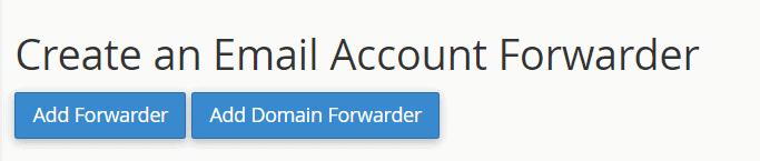 Create An Email Account Forwarder