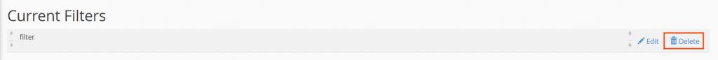 Delete Email Filter