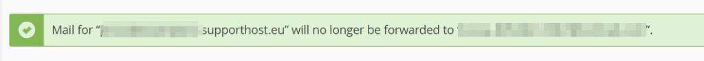 Delete Forwarder