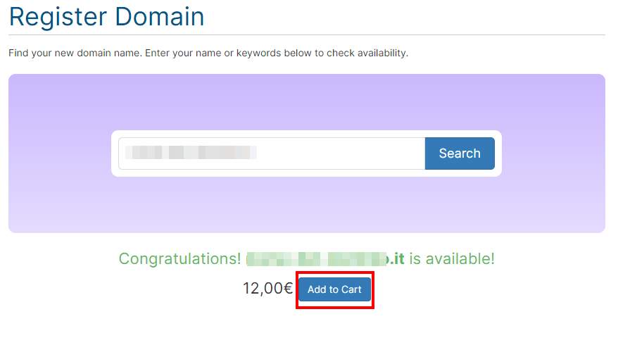 Domain Available Add To Cart