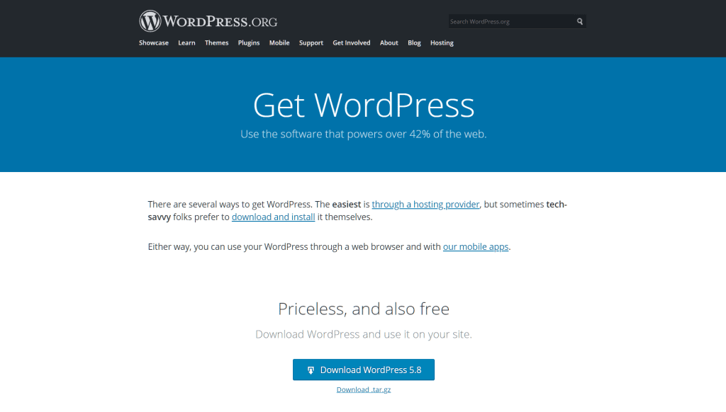 Download And Install WordPress