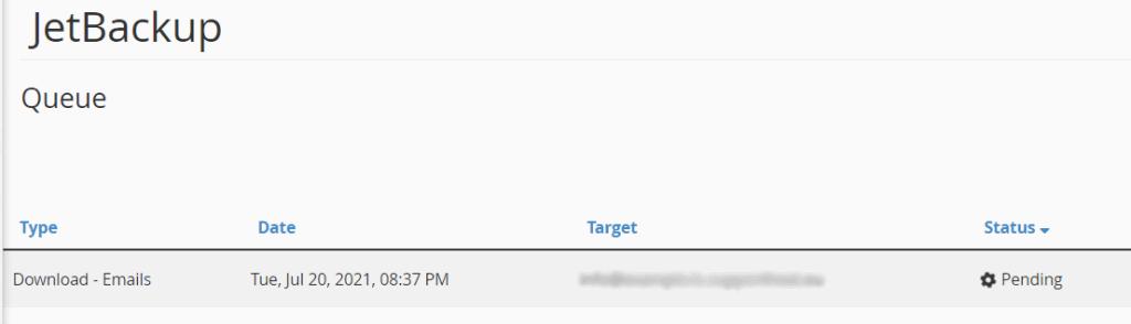 Download Email Queue Pending