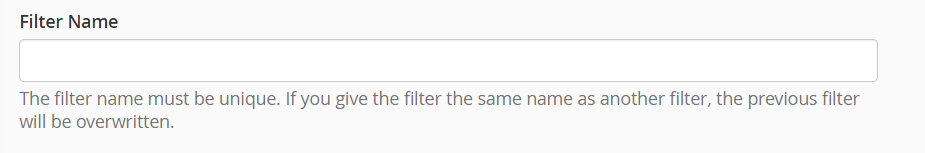 Email Filter Name