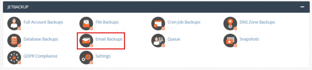Email Restore Backups Jetbackup