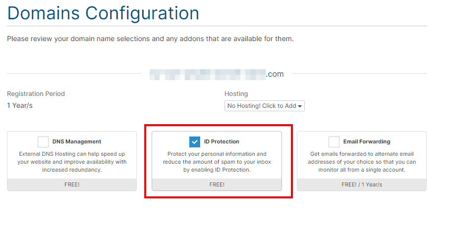 Enable Id Protection