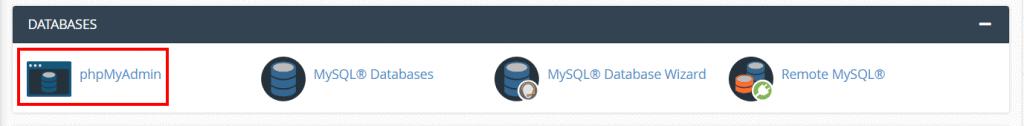Import Databases Phpmyadmin Cpanel