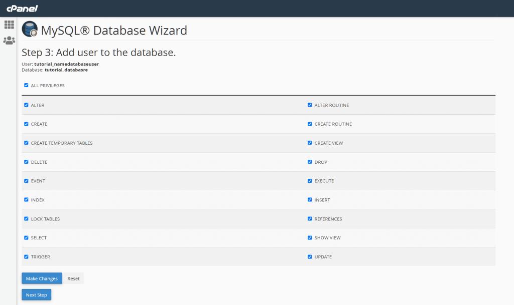 Install WordPress Add User To Database
