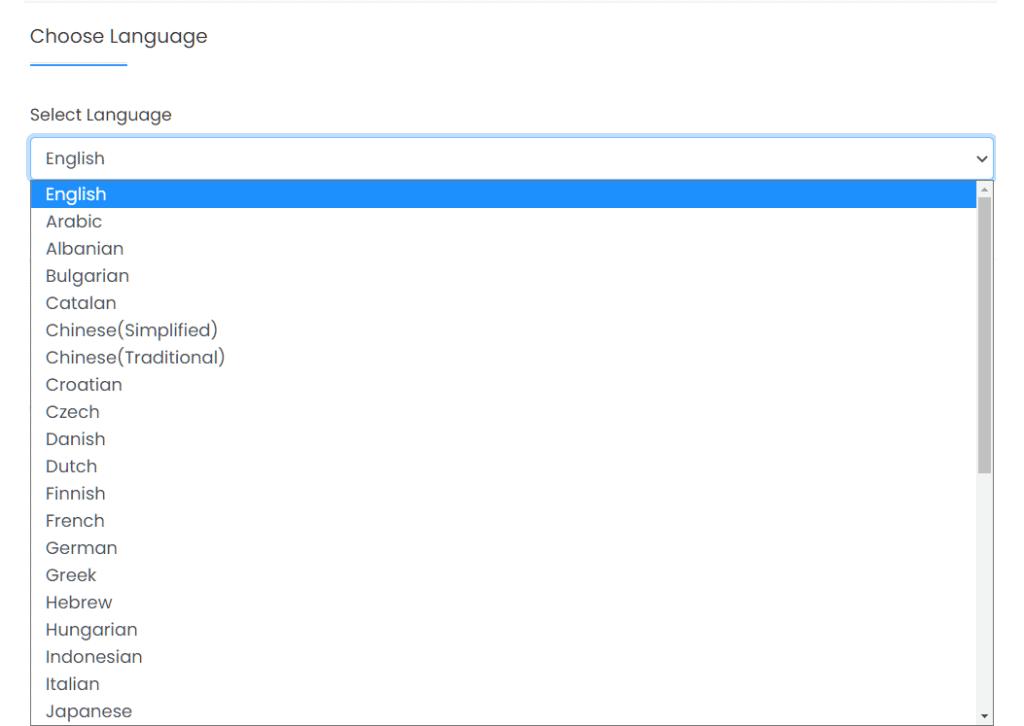 Install WordPress Chose Language