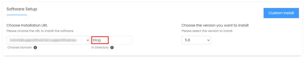 Install WordPress In A Folder