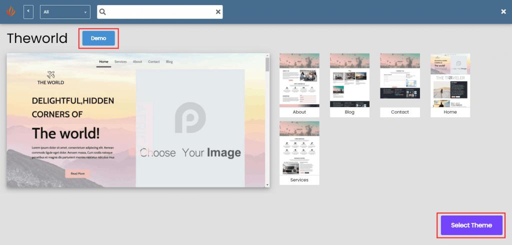 Install WordPress Select Theme