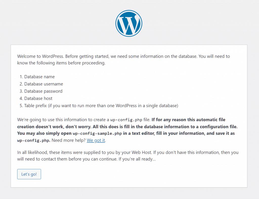 Install WordPress Wp Settings