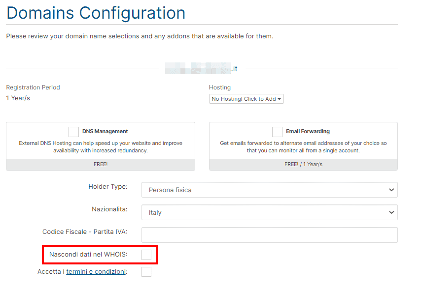 It Domain Configuration Whois