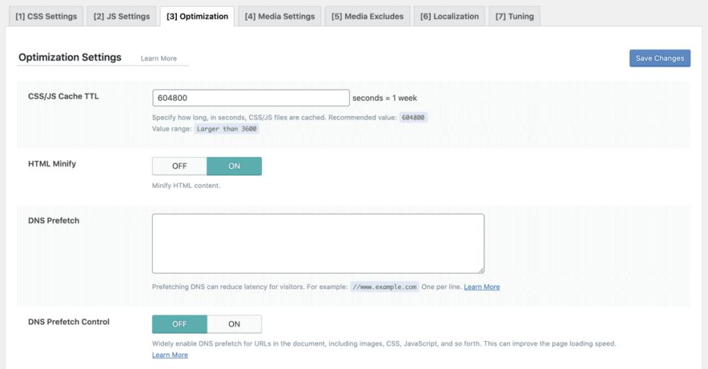 Litespeed Optimization Settings