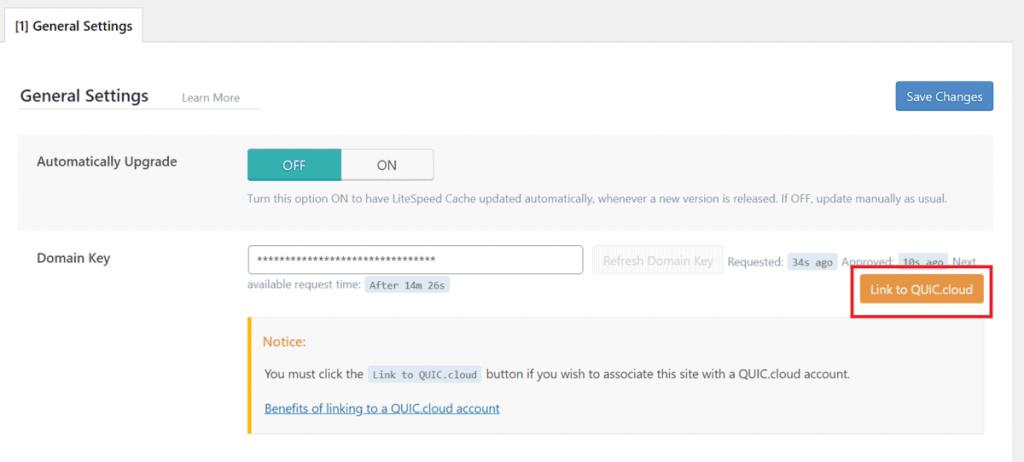 Litespeed Request Domain Key