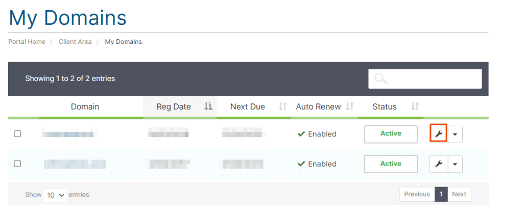 Manage Domain