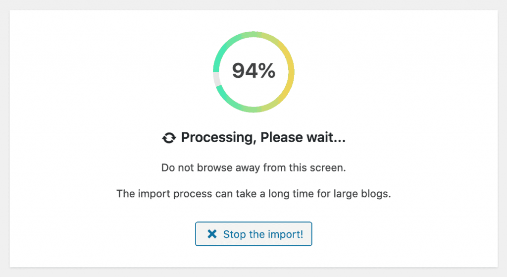 Migrate Blogger To WordPress Import Process