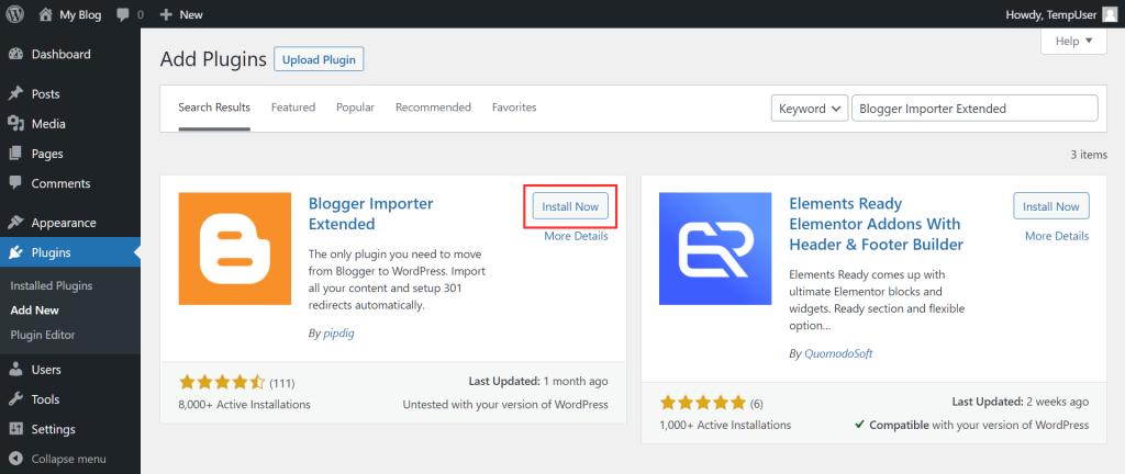 Migrate Blogger To WordPress Importer Plugin