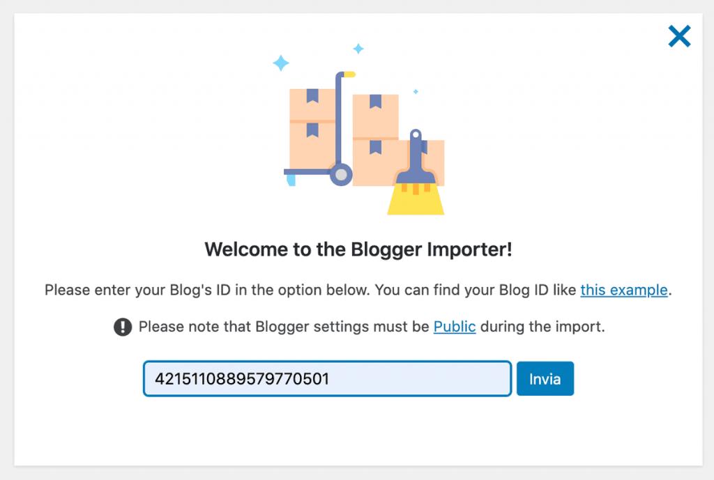 Migrate Blogger To WordPress Insert Blog Id