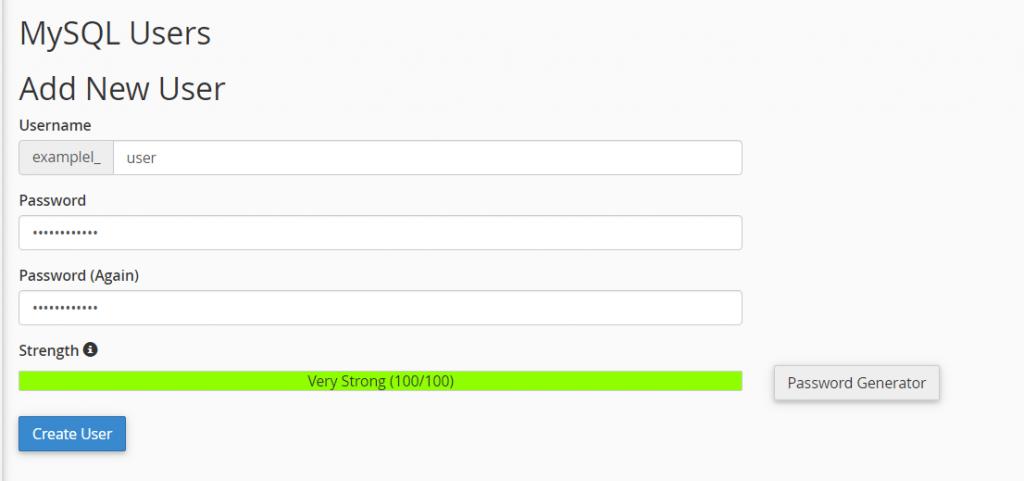Mysql Database Users Add New User
