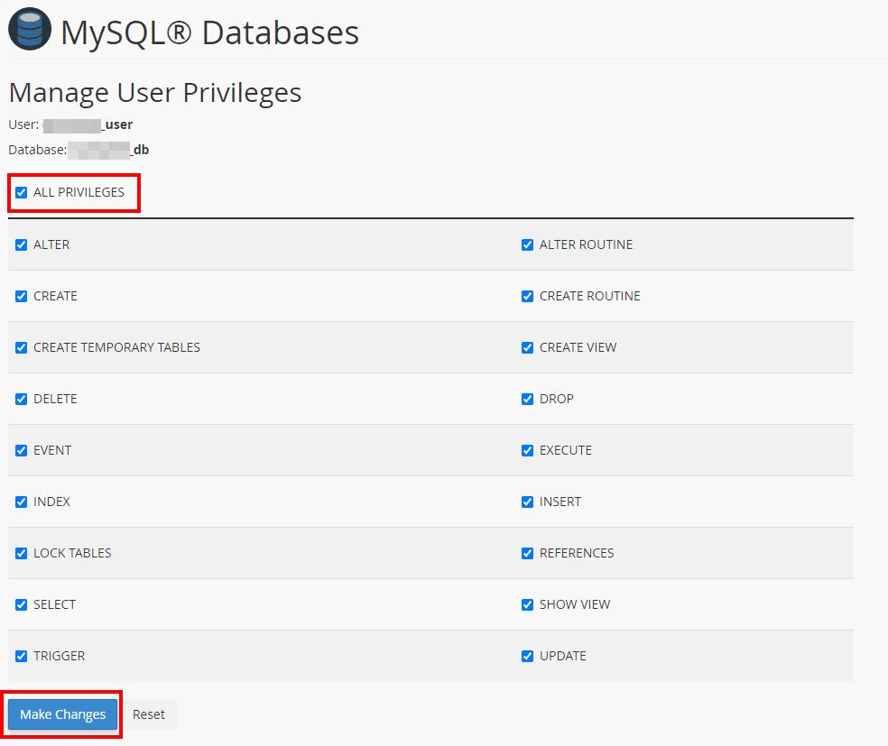 Mysql Database Users Manage User Privileges