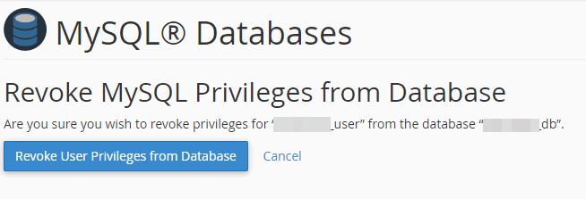 Revoke User Privileges