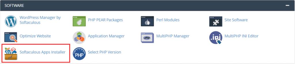 Softaculous App Installer On Cpanel