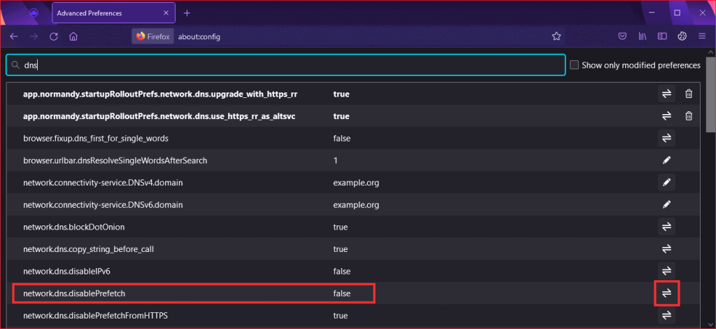 This Site Cant Be Reached Disable Firefox Dns Preload