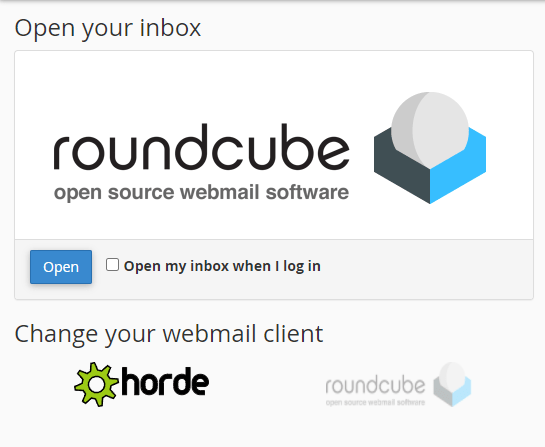 Webmail Supporthost Open You Inbox