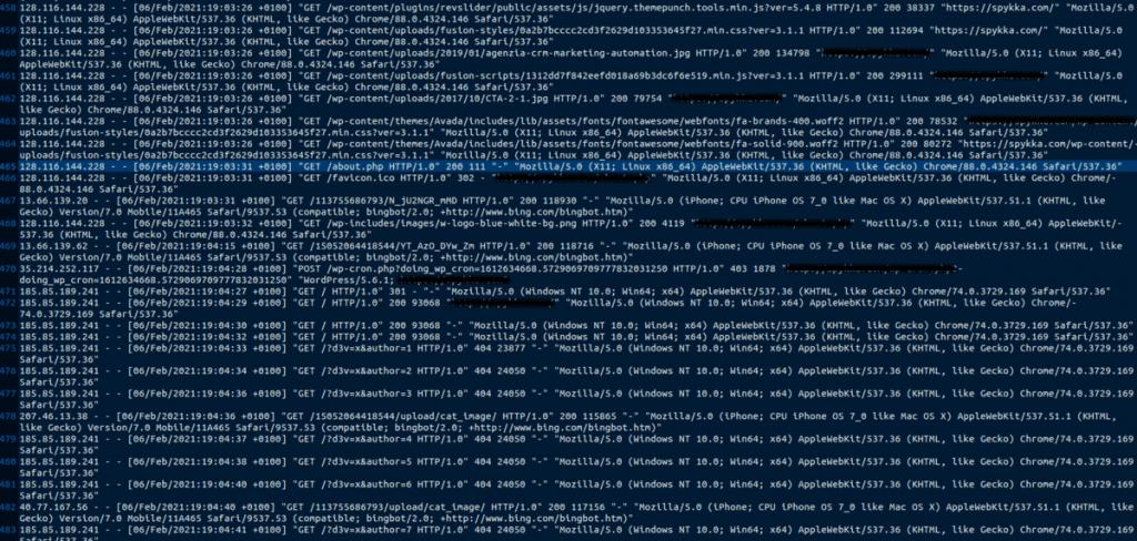 Wordpress Hacked Accesslog