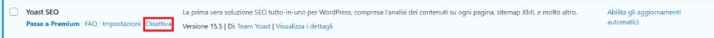 Wordpress Plugins Deactivate Plugin