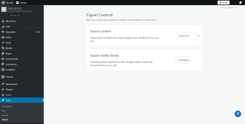 Transfer WordPress Com To WordPress Org Export Content