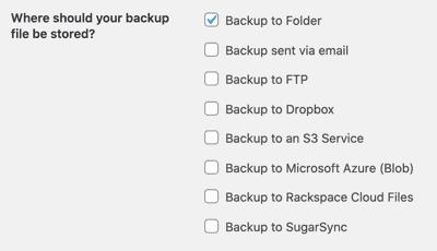Backwpup Backup To Folder