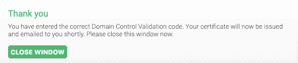 certificato SSL generato SupportHost