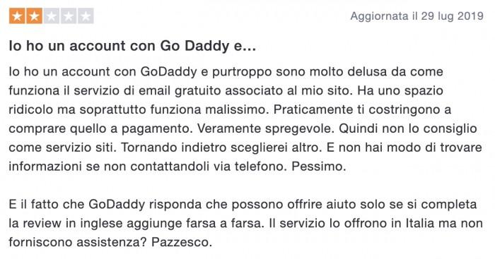 Recensione Godaddy 5