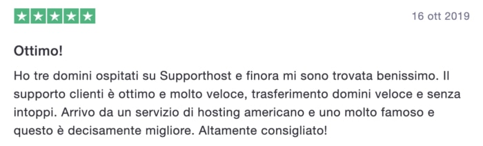 Recensione Supporthost 1