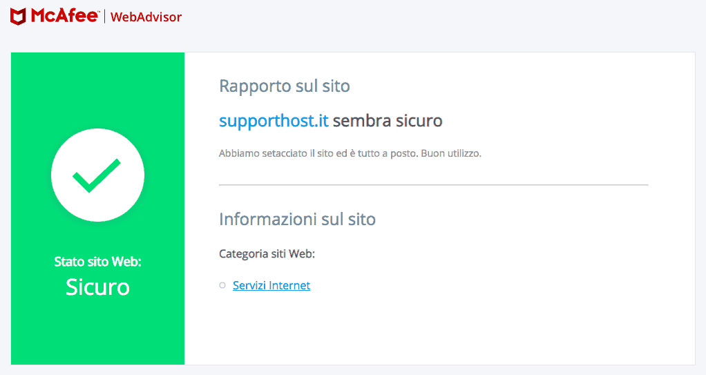 scansione siteadvisor per la ricerca di malware