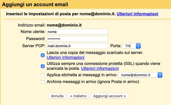 Ricevere La Pec Su Gmail Aggiungi Account