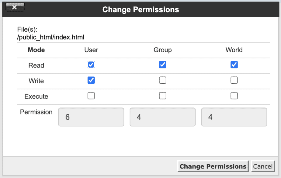 Imposta Permessi File