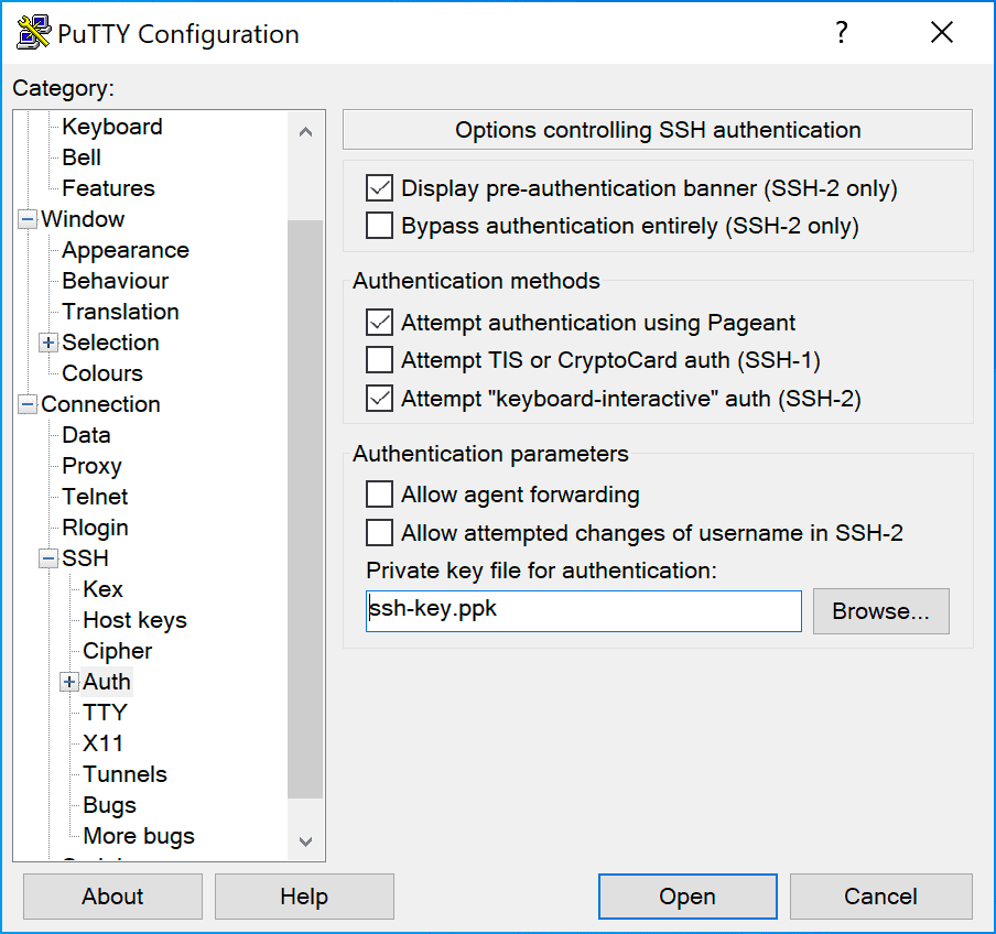 Accesso Ssh Windows Putty